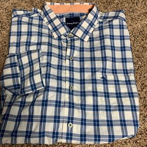 Men's Tommy Bahama button front long sleeve shirt
